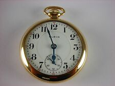 Antique all original 18s Elgin Father Time Rail Road pocket watch 1905 21 jewels