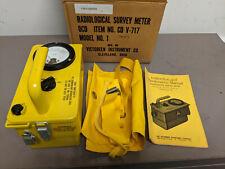 Victoreen Radiological Survey Meter Cd V717 Model 1 Geiger Counter Remote Cord