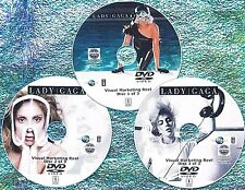 LADY GAGA Visual Marketing MUSIC VIDEO Reel 2008-2017 3 DVD Set 5.5 Hr 62 VIDEOS