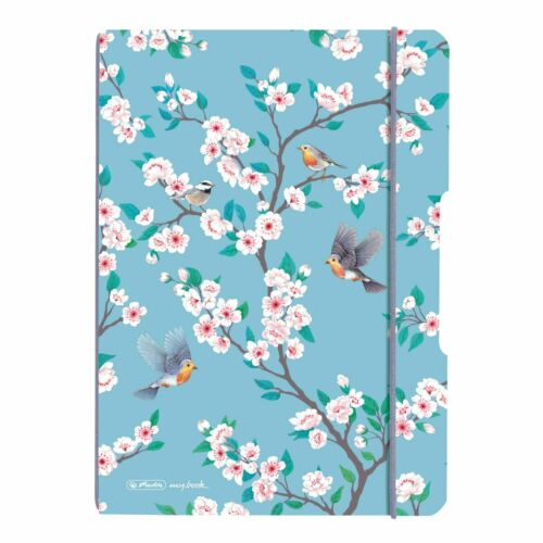 "A6 flex Flowers/"" 40 Bl.// kariert /""LadyLike Birds 2x Herlitz Notizheft"