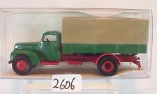 Brekina 1/87 49001 Ford FK 3500 LKW Pritsche/Plane neutral grün OVP #2606