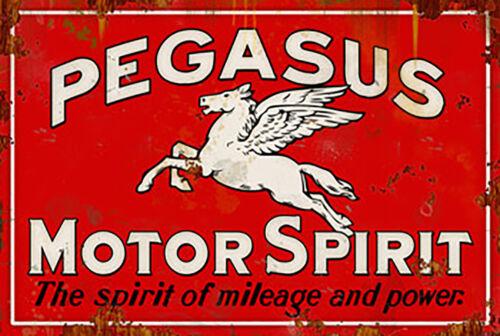 "mancaves etc idéal pour garage atelier Pegaus motor spirit /""tin signe plaque"