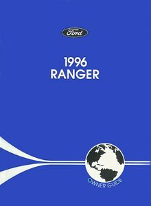 1996 Ford Ranger Owners Manual User Guide Reference Operator Book