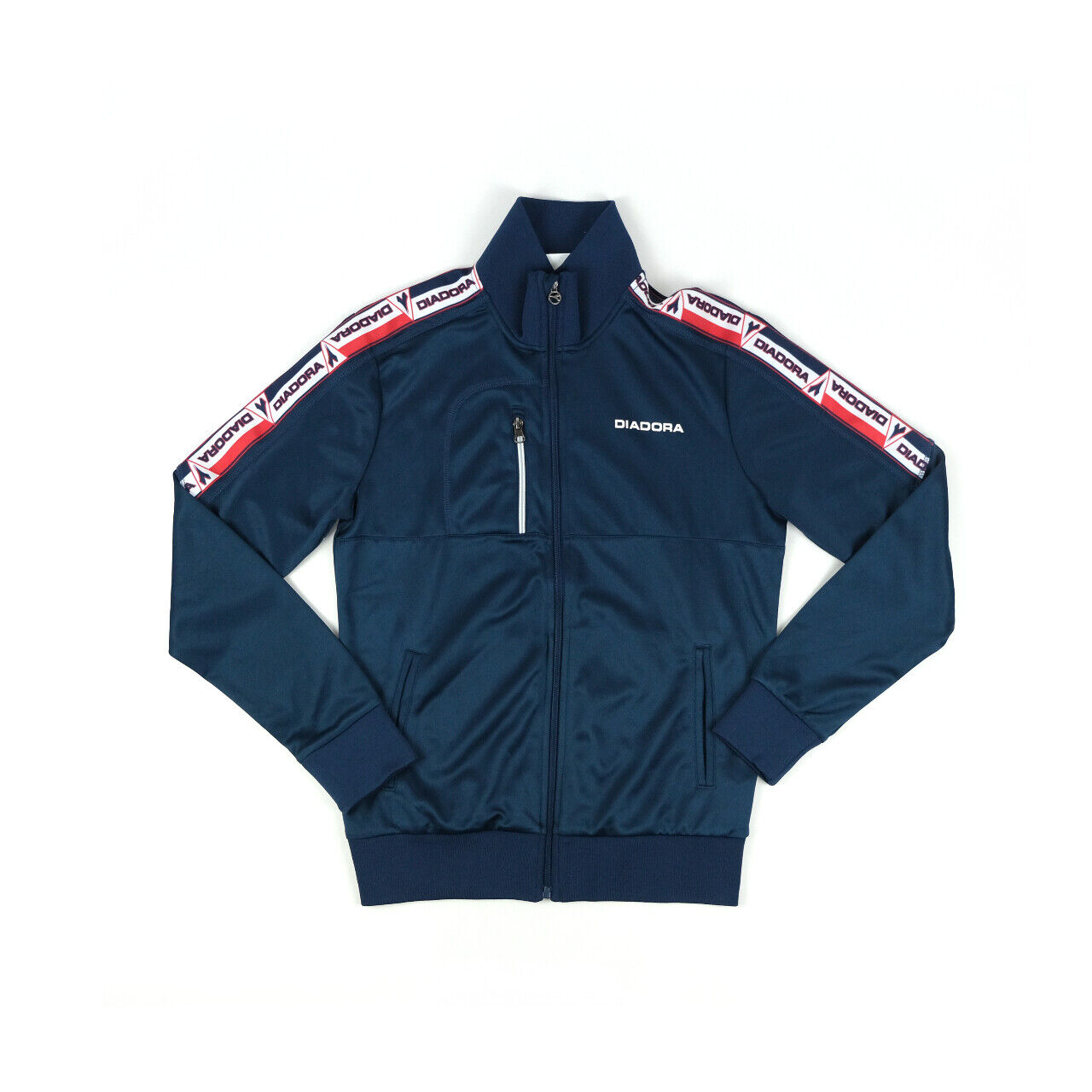 Diadora y2k taped navy track jacket Small size