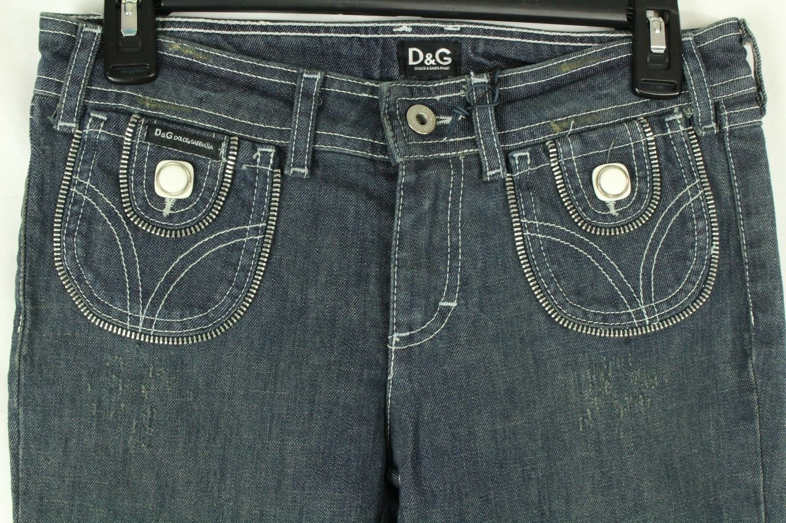 Dolce & Gabbana Love Affair Damen Jeans mit Distressed Skinny Stretch Größe