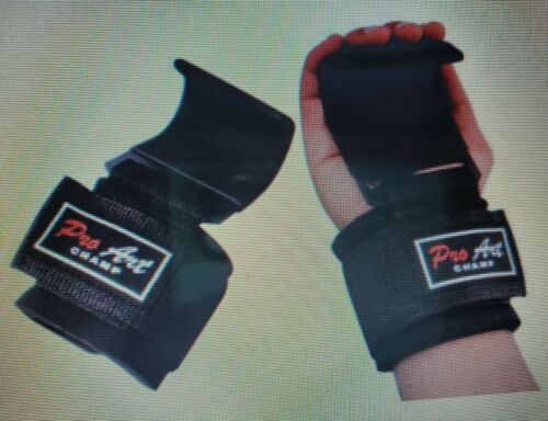 Pro Art Impex Heavy Duty Weight Lifting Training Gym Straps Hook Bar Wrist Brace