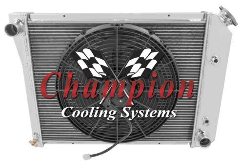"3 Row Aluminum Radiator 20/"" Core W// 16/"" Fan for 1972-1981 Chevy Camaro"