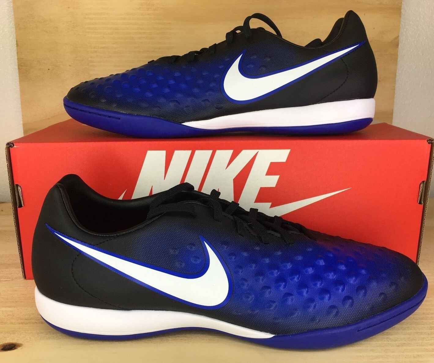 Nike Magista X Onda II IC Mens Indoor Soccer Cleats White Blue 844413-015 Sz 9.5