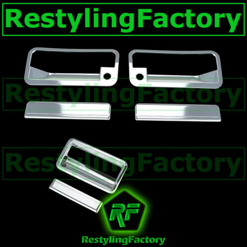 88-98 CHEVY C+K 1500+2500+3500 Triple Chrome 2 Door Handle+PSG KH+Tailgate Cover
