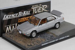 1:43 BOXED CAR MODEL 007 JAMES BOND Maserati Biturbo 425 License to Kill