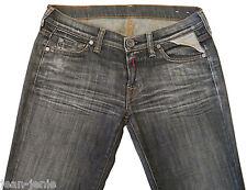 Women's REPLAY Straight Leg Slim Grey Stretch Jeans 26x32
