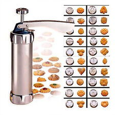 Cookie Biscuit Making Maker Pump Press Machine  24 Shapes -20 Moulds & 4 nozzles