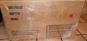 MRE U.S. MILITARY Case B inspection of 04/2020 MEALS READY TO EAT with heat pack