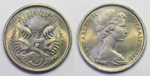 Australian-1966-UNCIRCULATED-5-Cent-Mint-Coin-Ex-Roll-HM123