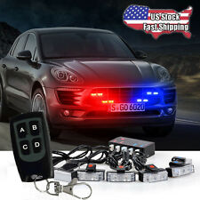 LED Car Truck Strobe Emergency Warning Light for Deck Dash Grill Red&Blu US