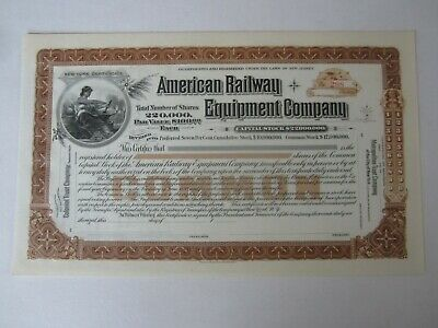 1890/'s Louisville Railway Railroad Stock Certificate