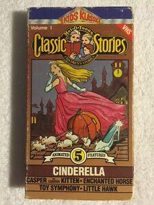 Mel-O-Toons-Prev-Viewed-VHS-Cinderella-Vol-1-Kids-Klassics-VERY-RARE-HTF