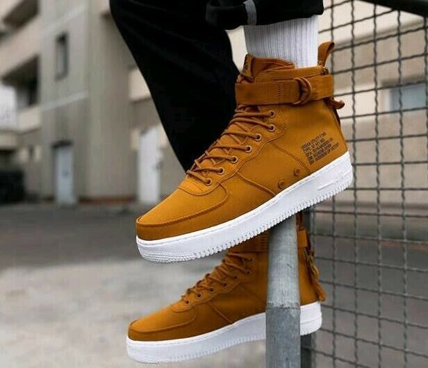 9abfb66daab Mens Nike SF Af1 Air Force 1 Mid Size 11.5 EUR 47 (917753 700) Desert Ochre  for sale online | eBay