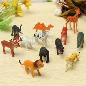 Image Is Loading 12 Small Animals Model Plastic Zoo Safari Wild