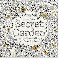 Secret Garden An Inky Treasure Hunt and Coloring Book by Johanna Basford US Ship