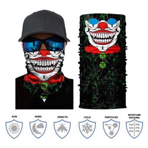 2018 Joker Face Mask Sun Mask Balaclava Neck Gaiter Fishing Headwear UV Clown