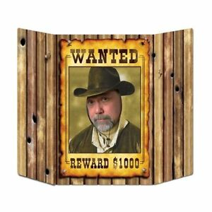 Wild-West-Wanted-Poster-Photo-Prop-94-cm-Cowboy-Stand-up-Party-Decorations