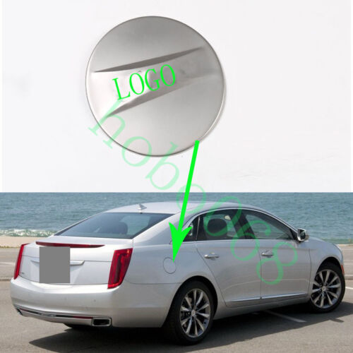 1x For Cadillac XTS 2013-17 Stainless Fuel Tank Cap Covers Decoration with LOGO