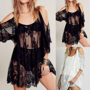 Women-Summer-Sexy-Swimwear-Lace-Crochet-Bikini-Cover-Up-Bath-Suit-Beach-Dress