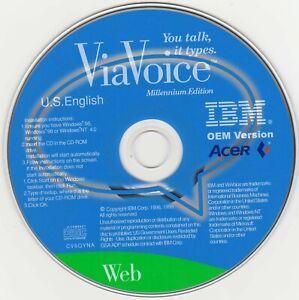 ViaVoice-CD-Original-Disk-You-Talk-It-Types-Mint-Condition