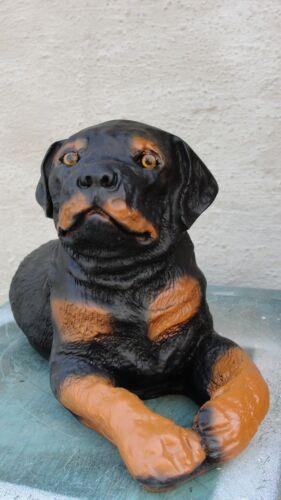 Welpe Rottweiler Lebensgroß Liegend Rotti Figur Tierfigur Hund Hundefigur Garten