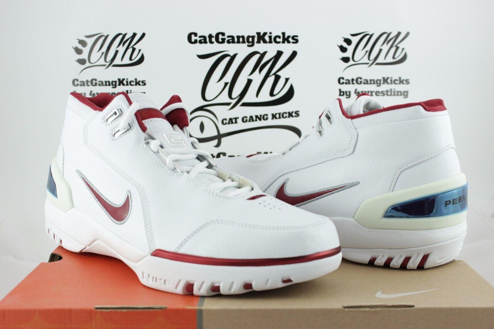 2004 OG DS Nike Air Zoom Generation AZG LeBron James bianca Crimson 308214 161
