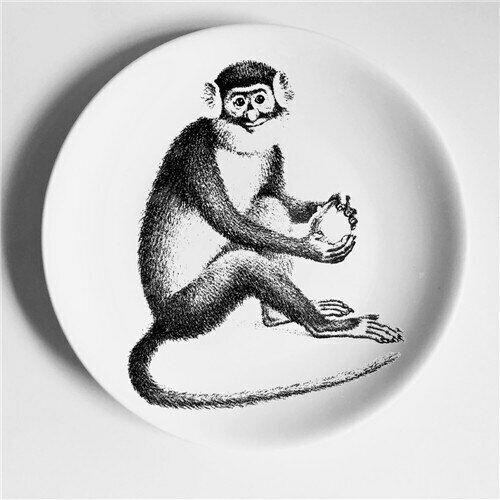 Milan Fornasetti Plates Wall Dish Hanging Plate Milan Black /& White Print Decor