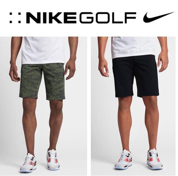 4f5585e5 NEW $100 Nike Golf Dry Desert Short Modern Fit Men's 839717 Black, Green 30,