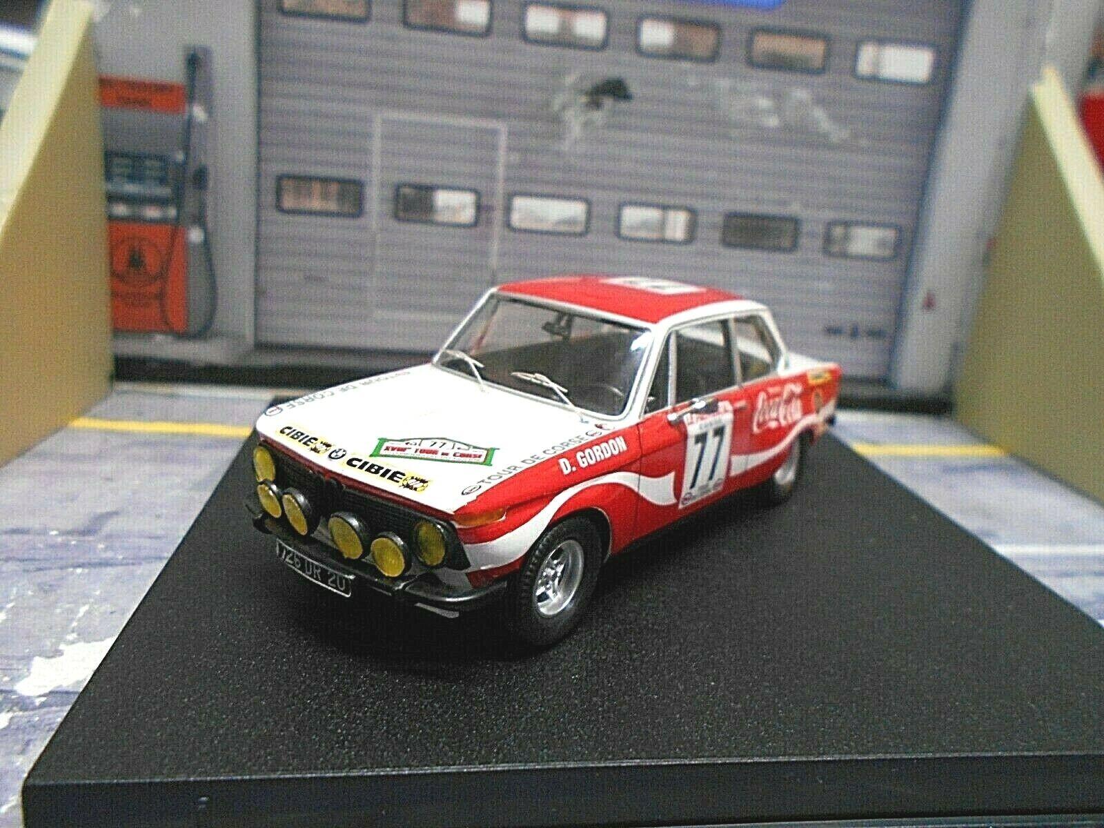 BMW 2002 Ti RALLY TOUR DE CORSE FRANCE 1974  77 Gordon Coca Cola Trofeu 1 43