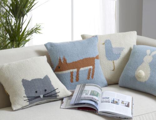King Cole Casa Knits Tejido Libro-Manta Cushion Covers Puf Té Cosies