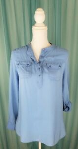 Urban Outfitters Staring At Stars Blue Button Front Blouse Sz XS Pre-Owned  Flaw