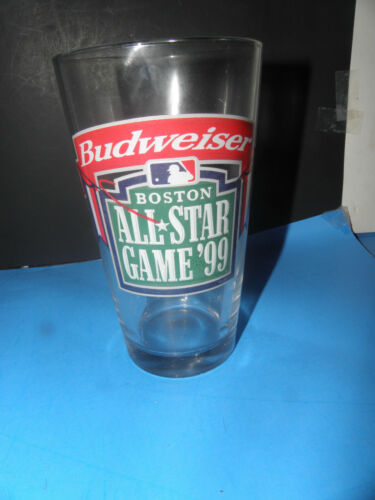 BOSTON LOGO @FENWAY BEER GLASS BUDWEISER 1999 ALL-STAR GAME USED