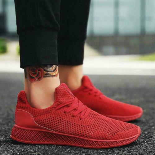 Casual Athletic Breathable Mesh Stylish Sneakers Lace New Shoes Up Men's Running wwpq8gx