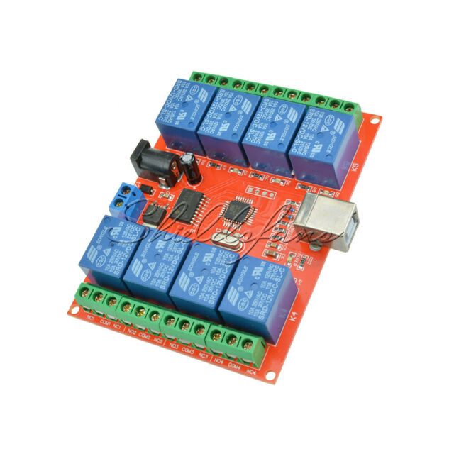 12V USB Relay 8 Channel Programmable Computer Control For Smart Home S