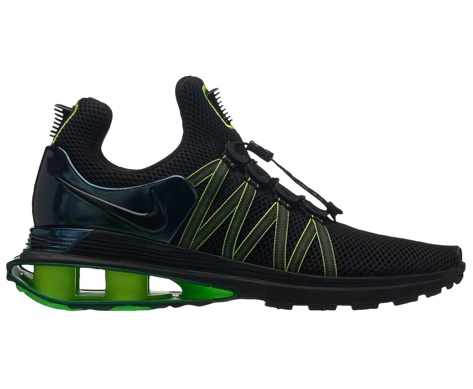 Nike Shox Gravity Mens AR1999-003 Black Gorge Green Lime Running shoes Size 8.5