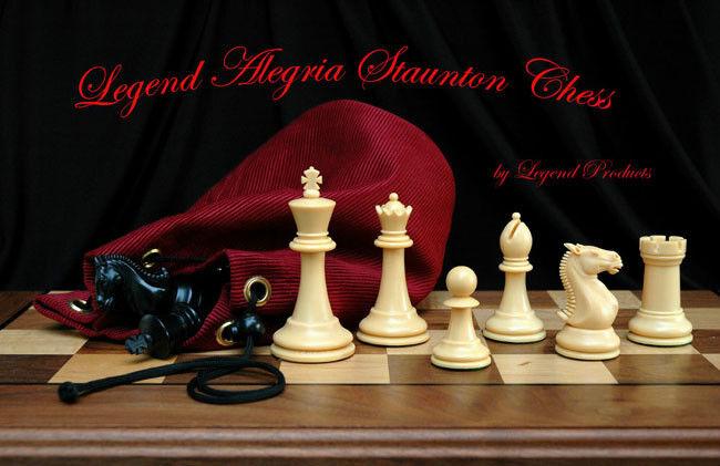 Legend Alegria Tournament Staunton Plastic Chess Set and Storage Bag