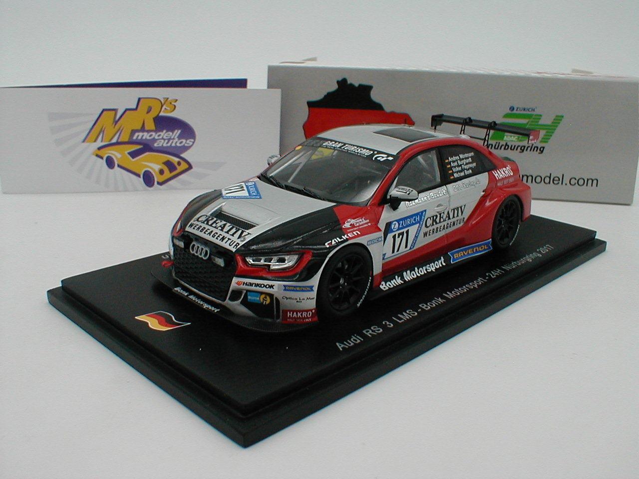 SPARK sg304-Audi RS 3 LMS 24 H. Nurburgring No. 171 Technologies Moteur Sport 1 43 NEUF