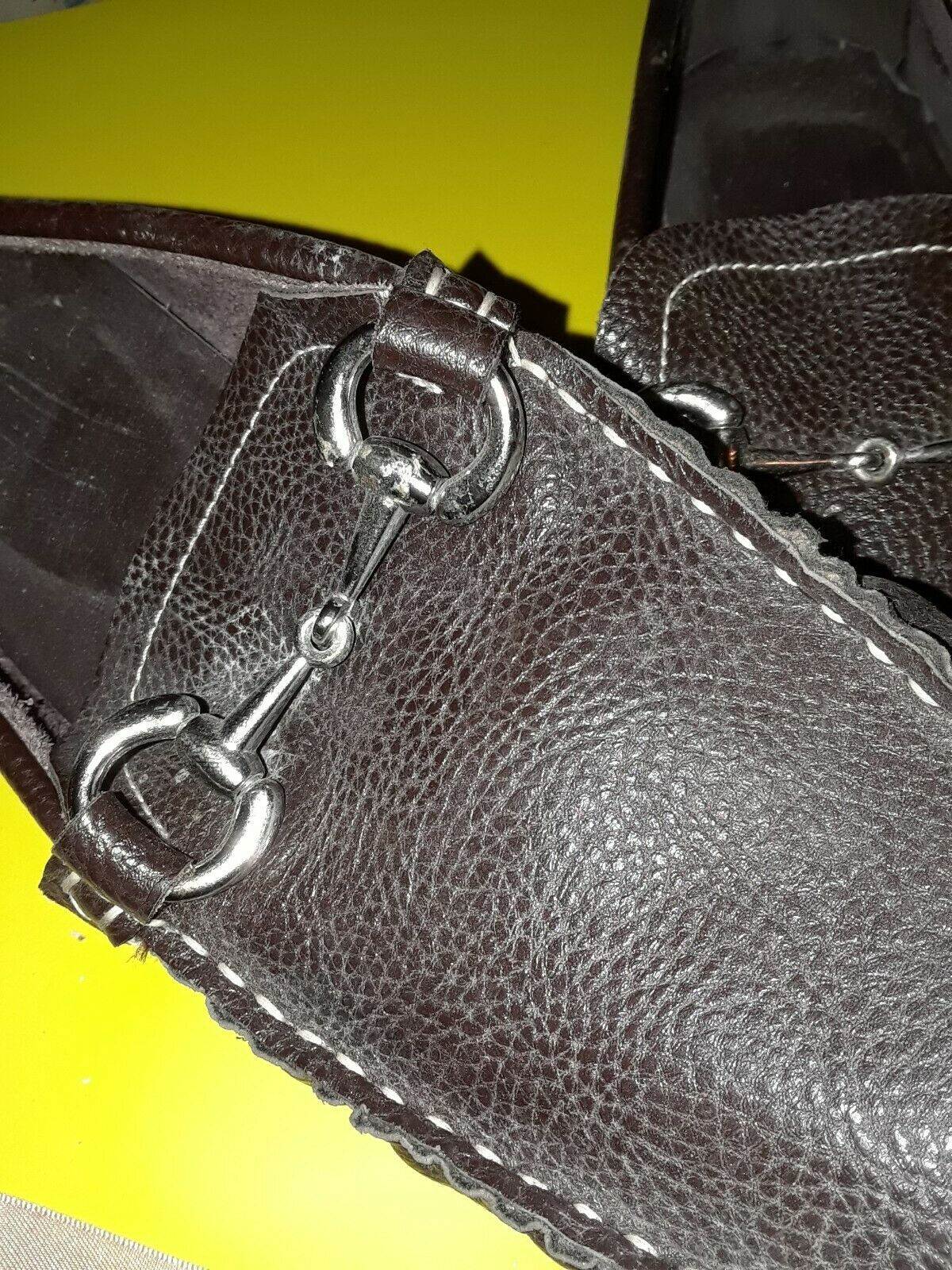 Joseph Abboud Men Moc Toe Horse Bit Loafers Size 9 Brown Leather