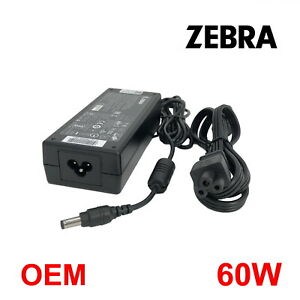 Authentic Zebra AC Adapter 60W For LP2824 LP2844-Z LP3844-Z Label Printer W/PC