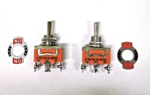 2 BBT Marine Grade On//Off//On 20 amp Toggle Switches