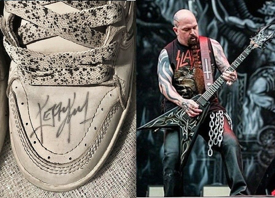 Awesome Slayer Vans Shoes AUTOGRAPHED By KERRY KING! Men's Size 10 L@@k  >>>>