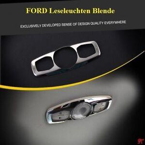 Ford Focus 3 luces de lectura cromo diafragma cubierta mk3 Kuga Mondeo acero inoxidable St
