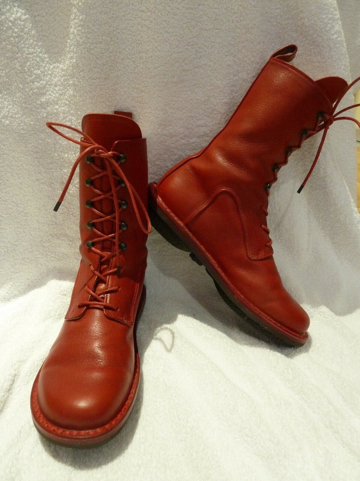Handmade Trippen lagenlook high quality red  CONCRETE  boots size 37 38