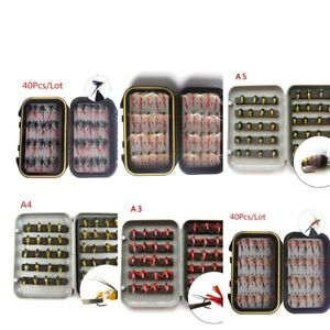 40Pcs-Trout-Fly-Fishing-Flies-Wet-Dry-Lure-Lures-Fish-Baits-Hooks-with-Box