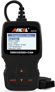 ANCEL AD310 Classic Enhanced Universal OBD II Scanner Car Engine Fault Code CAN